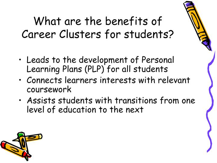 What are the benefits of Career Clusters for students?