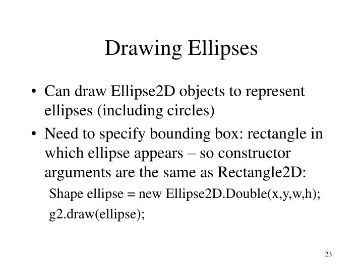 Drawing Ellipses