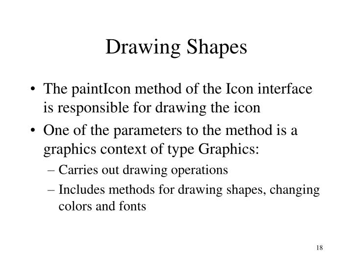 Drawing Shapes