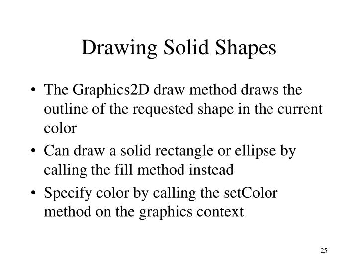 Drawing Solid Shapes