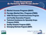 trade development by partnering with private sector