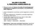 valori e colore il percorso assiologico 3