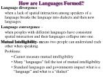 how are languages formed