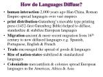 how do languages diffuse