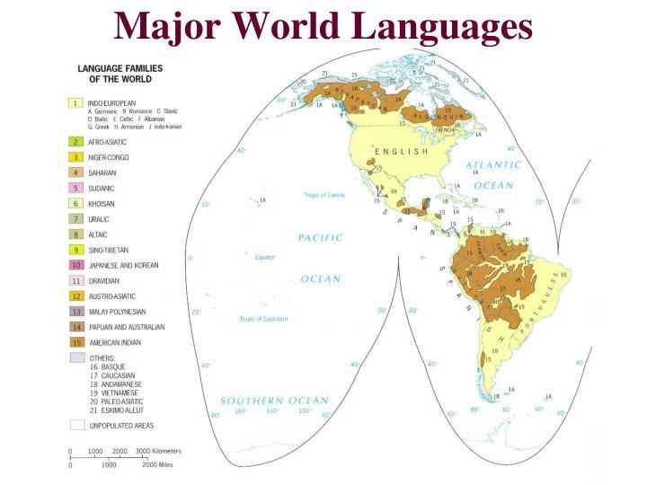 Major World Languages