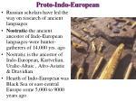 proto indo european