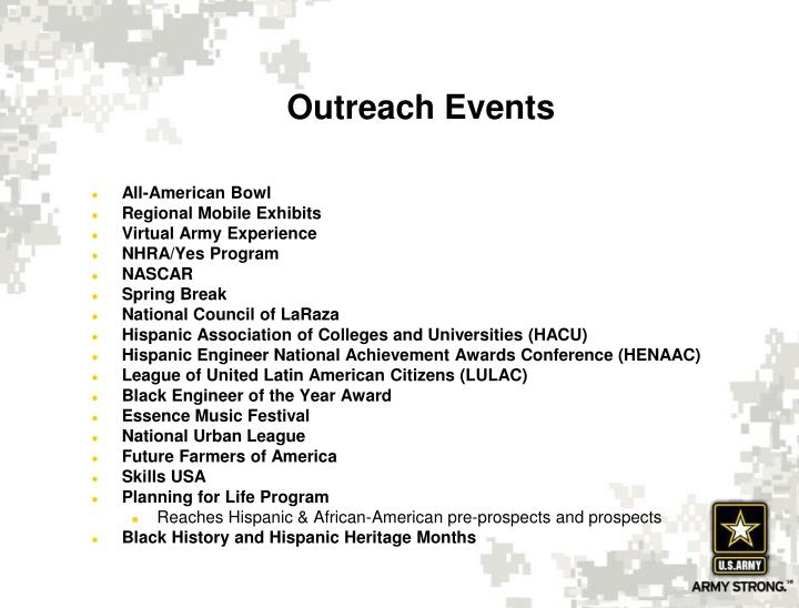 Outreach Events