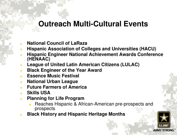 Outreach Multi-Cultural Events