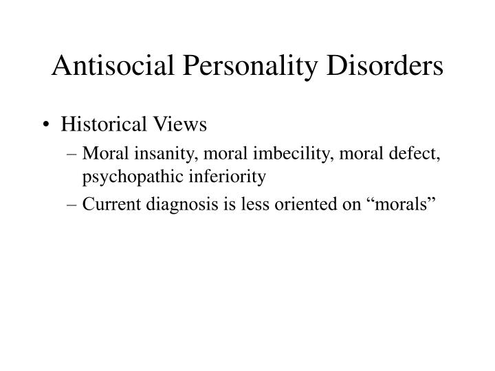 the description of the antisocial personality disorder apd Description antisocial  persuasive and charming personality  what are defense mechanisms used by clients with antisocial personality disorder (apd) definition.