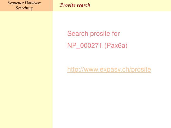 Prosite search