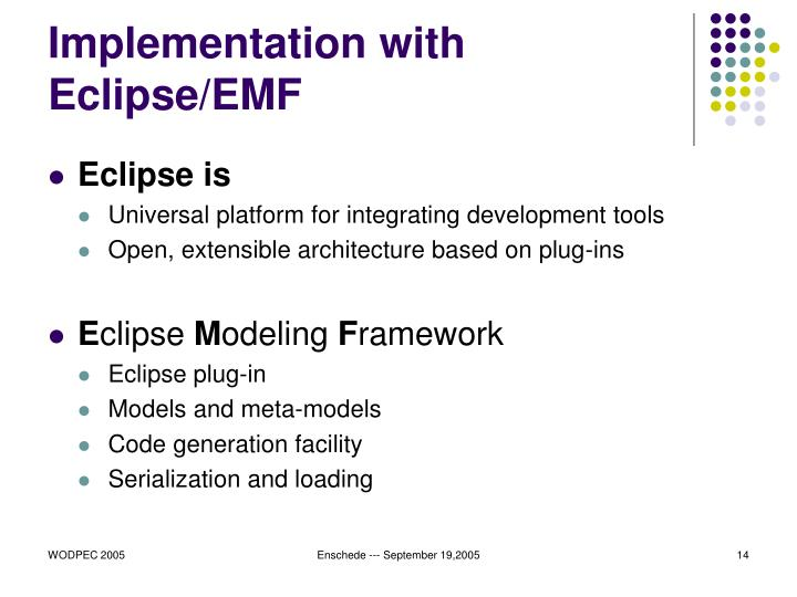 Implementation with Eclipse/EMF