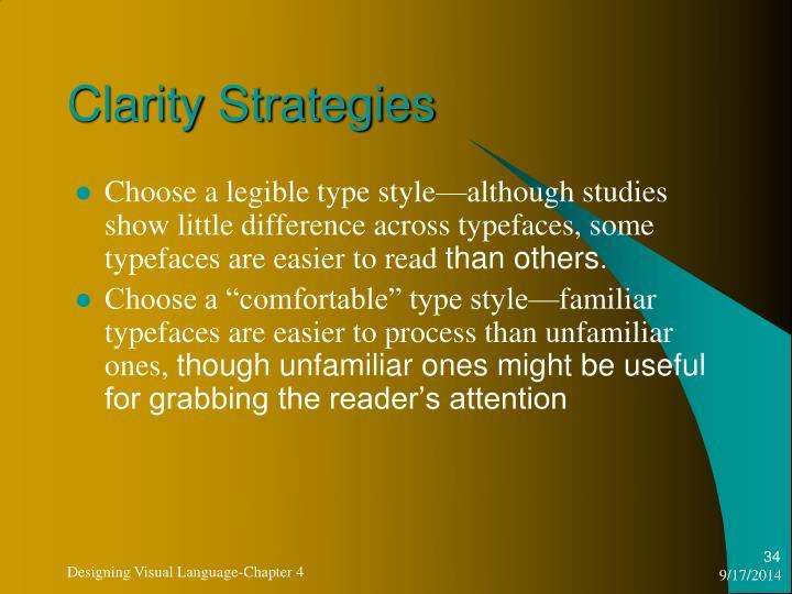 Clarity Strategies