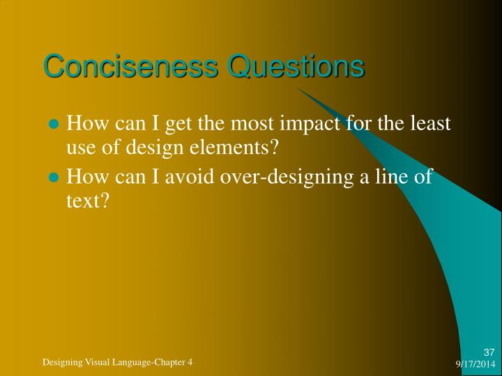 Conciseness Questions