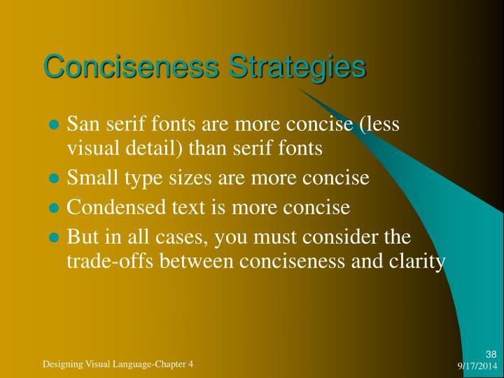 Conciseness Strategies
