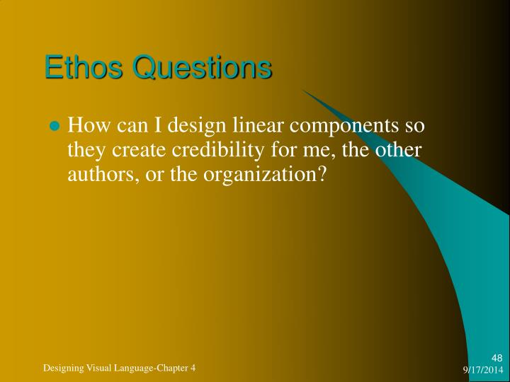 Ethos Questions
