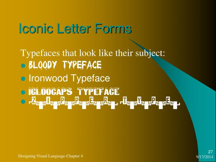 Iconic Letter Forms