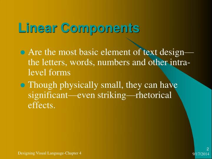 Linear Components