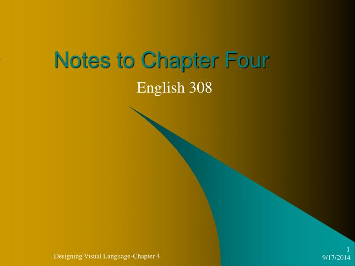 Notes to Chapter Four