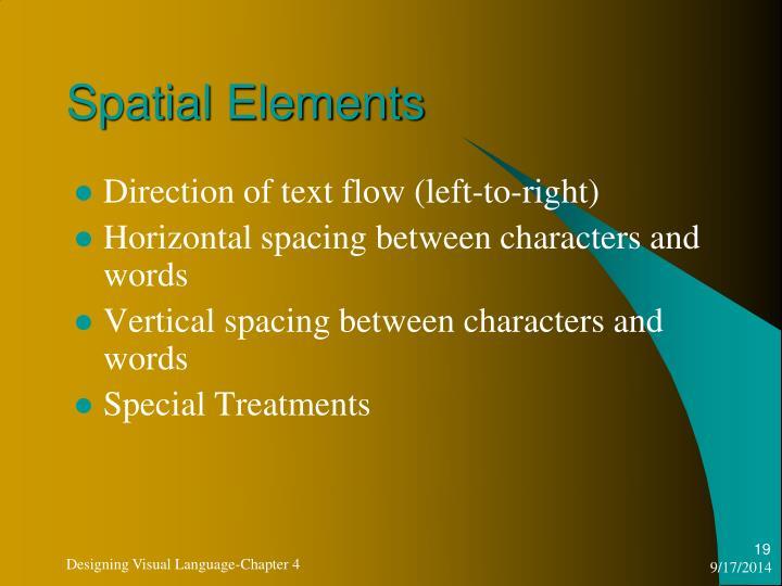 Spatial Elements