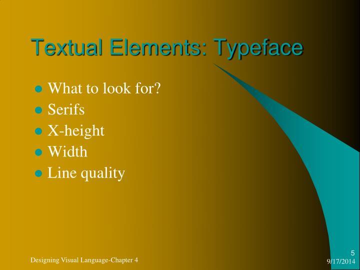 Textual Elements: Typeface