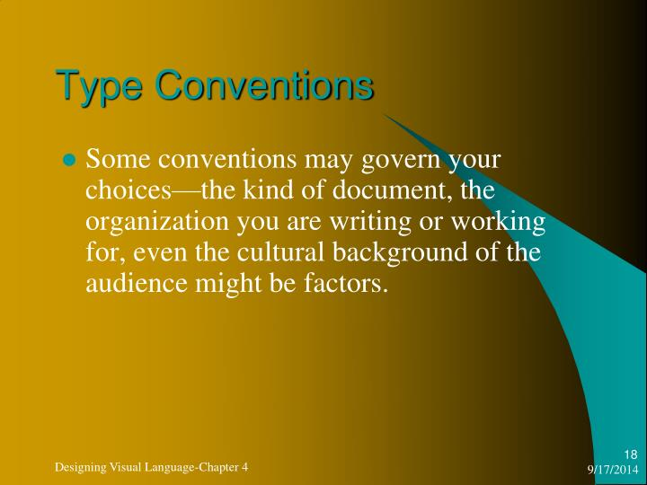 Type Conventions