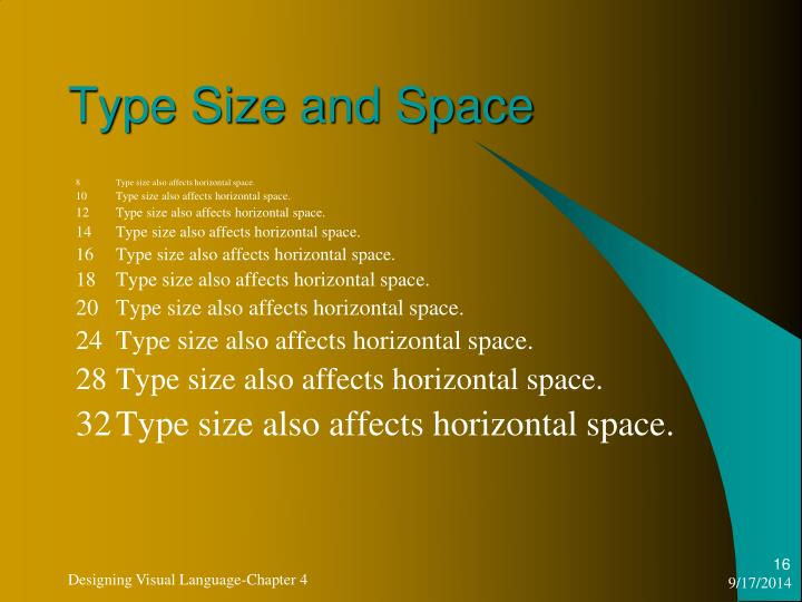 Type Size and Space