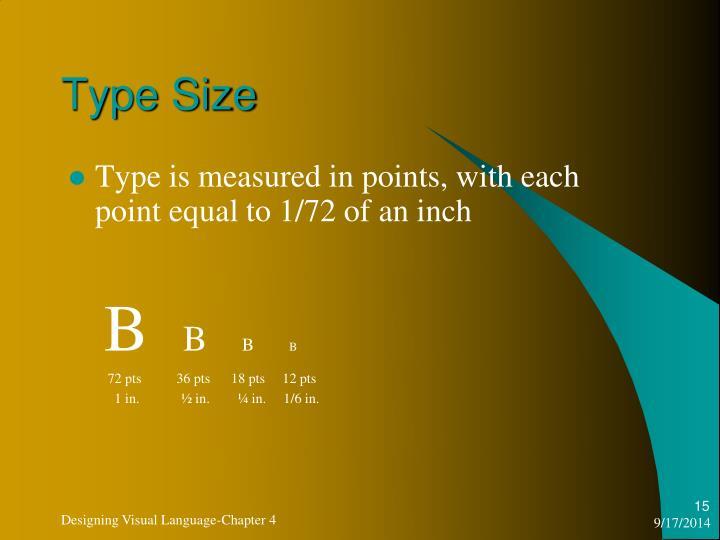 Type Size