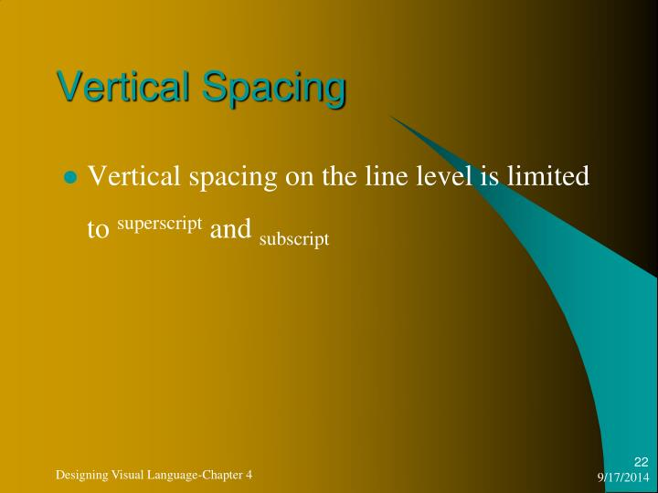 Vertical Spacing