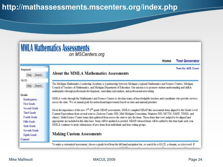 http://mathassessments.mscenters.org/index.php
