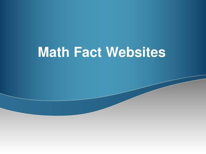 Math Fact Websites