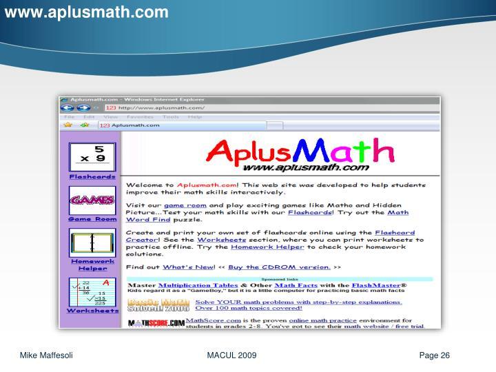 www.aplusmath.com