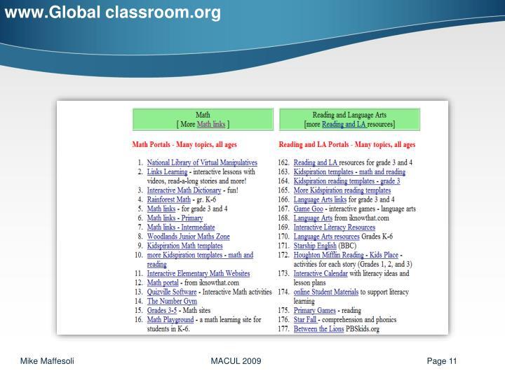 www.Global classroom.org