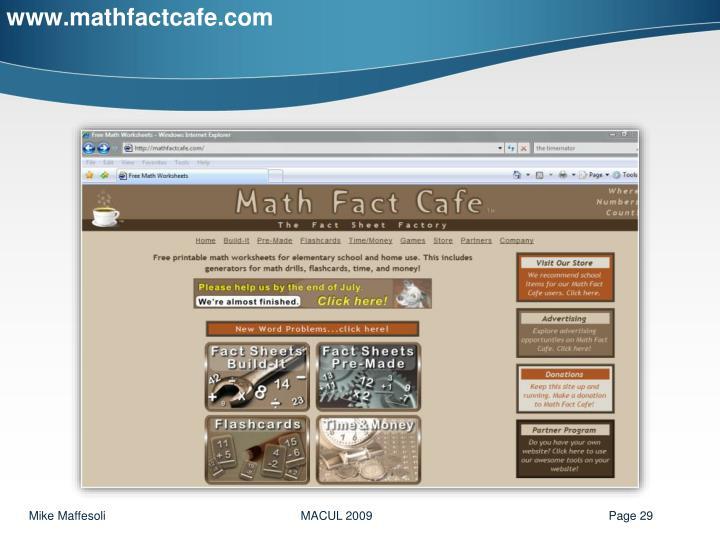 www.mathfactcafe.com
