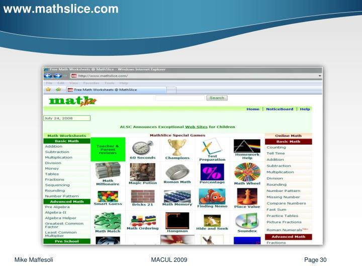 www.mathslice.com