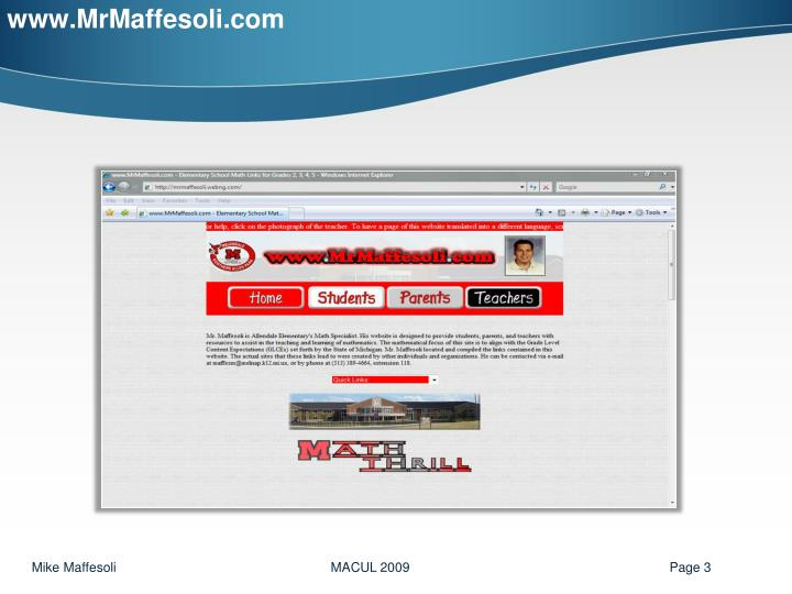www.MrMaffesoli.com