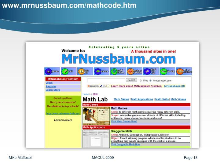 www.mrnussbaum.com/mathcode.htm