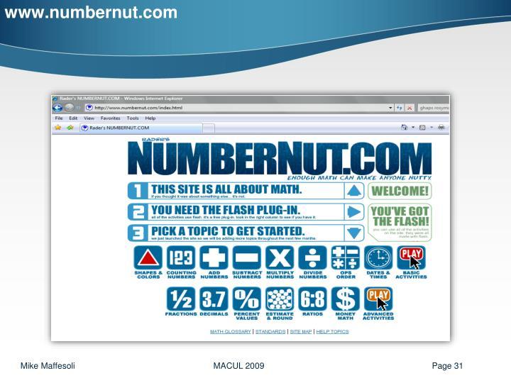 www.numbernut.com