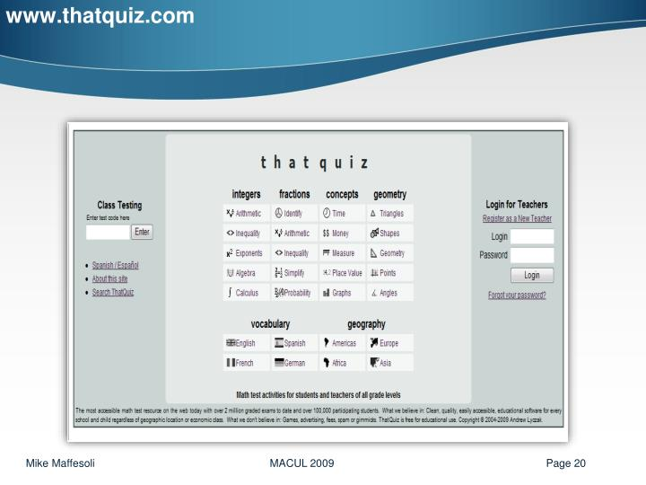 www.thatquiz.com