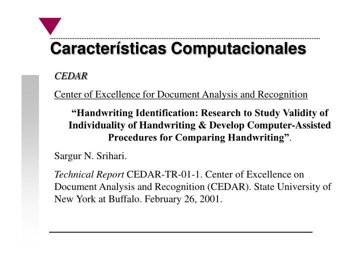 Características Computacionales