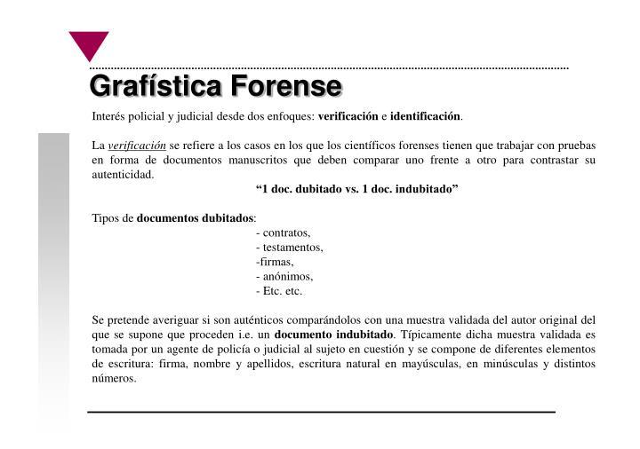 Grafística Forense