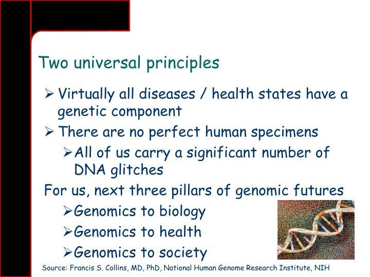 Two universal principles
