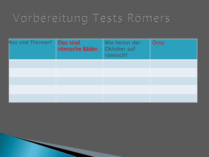 Vorbereitung tests r mers