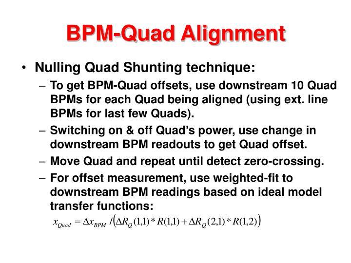 BPM-Quad Alignment