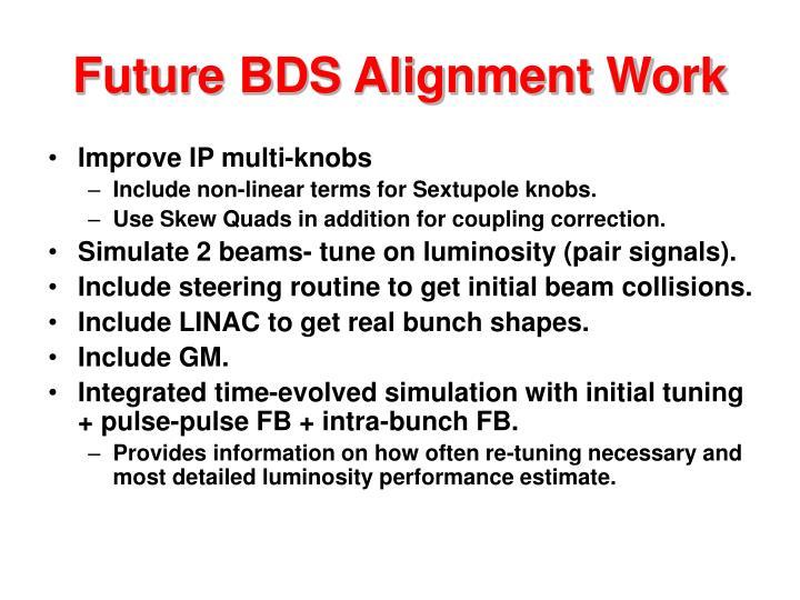 Future BDS Alignment Work