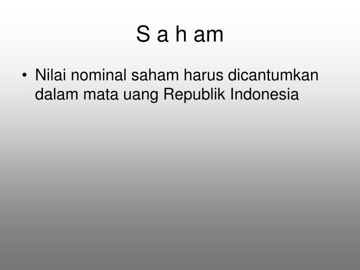S a h am