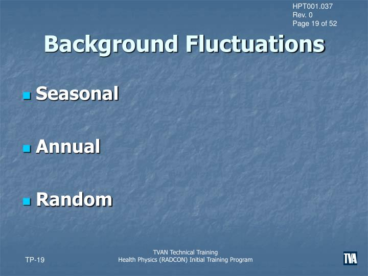 Background Fluctuations