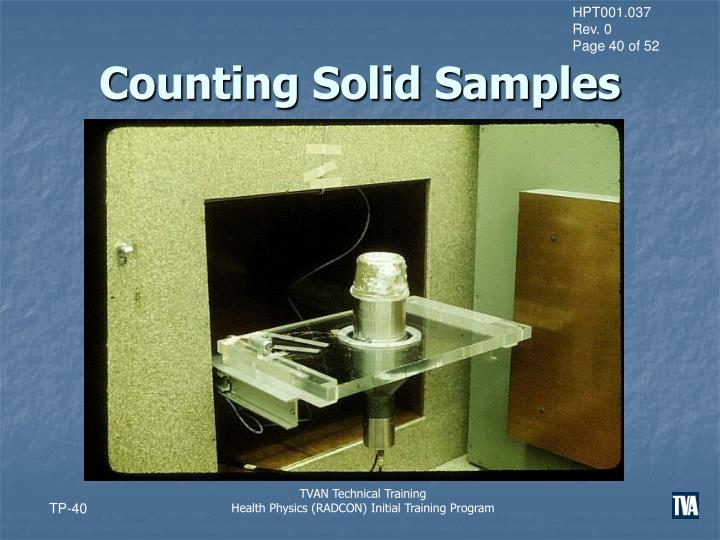 Counting Solid Samples