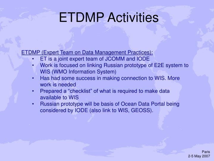 ETDMP Activities