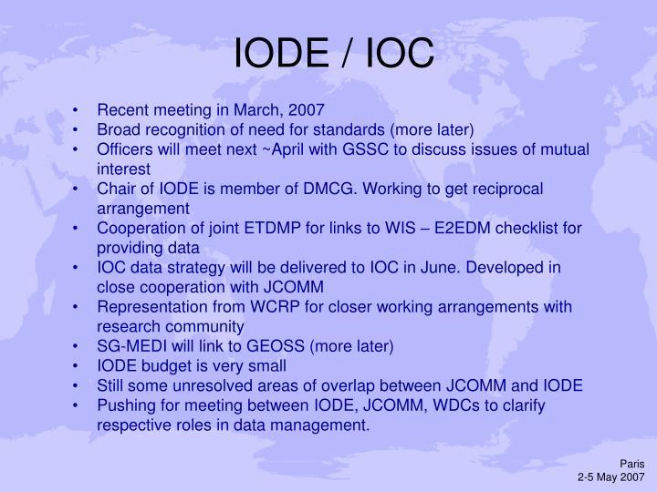 IODE / IOC