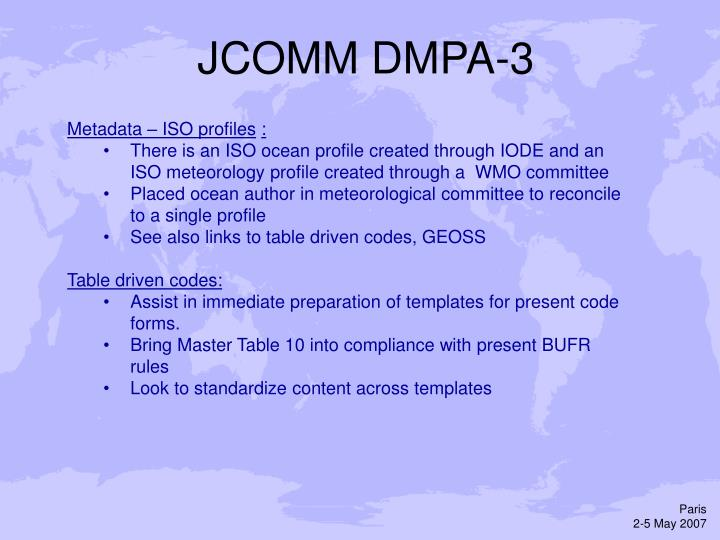 JCOMM DMPA-3
